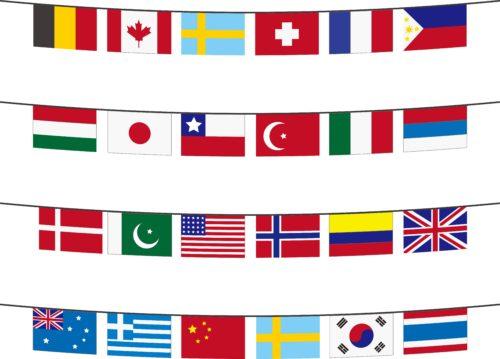 世界の旗のイラスト